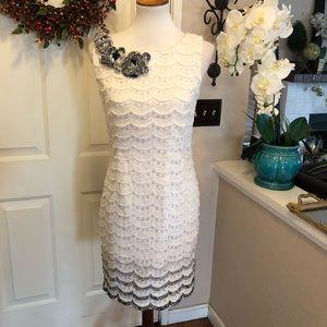 Like New White Cynthia Steffe Eyelet Midi Dress